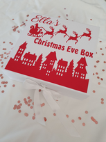 Christmas Scene Personalised Christmas Eve Gift Box